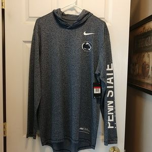 NWT Nike Penn State Long Sleeve Pullover with Hood